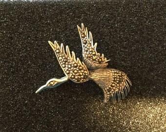 Brooch,Bird Brooch,1980s, Vintage Brooch,Handmade Brooch,vintage,funky,hippy brooch,gifts brooch,