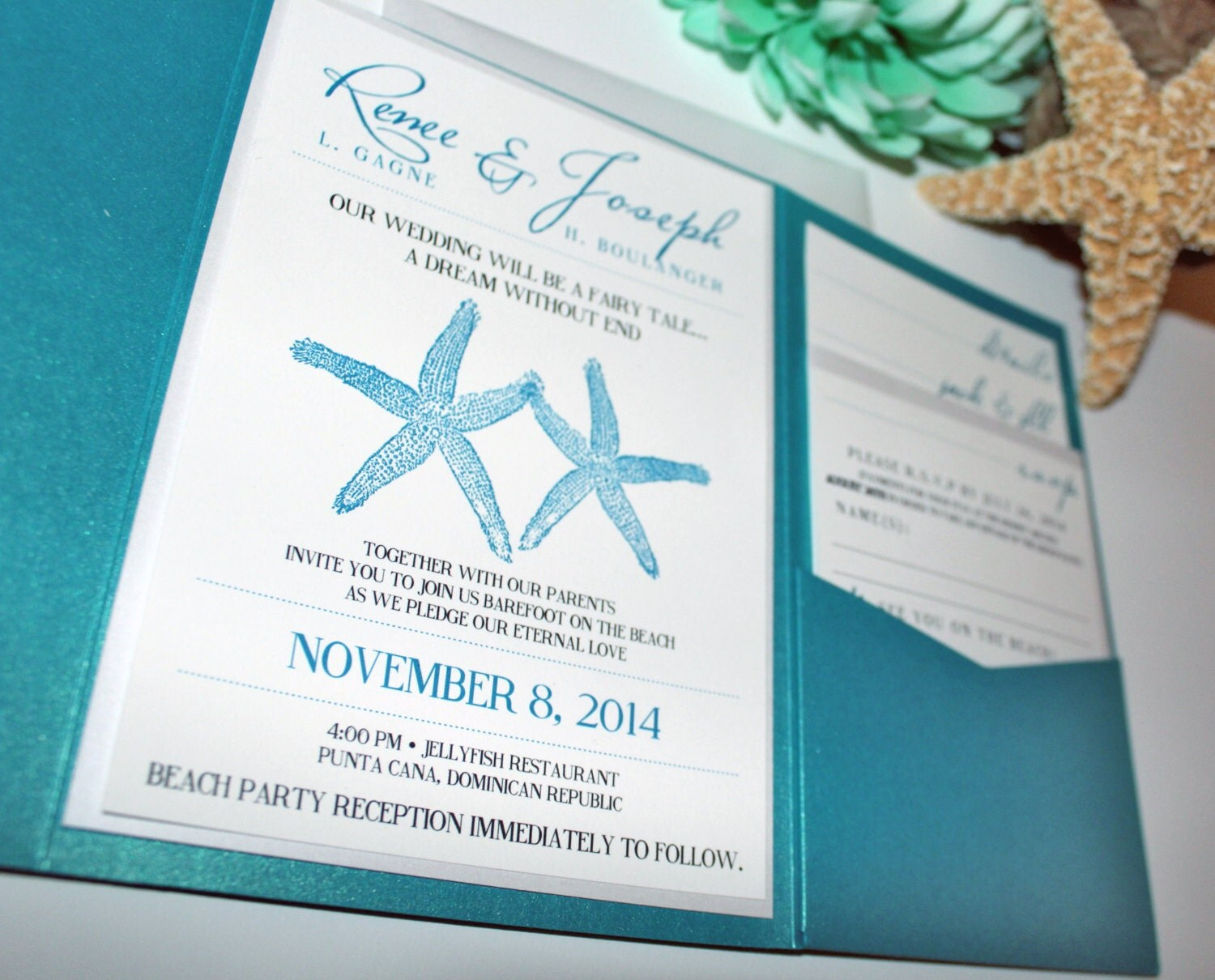 Wedding Invitation Beach: Married By The Sea Wedding Invitation Beach Wedding