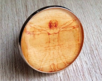 "Ring ""Vitruvian man"""