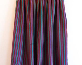 Flowy Skirt with Colorful Southwestern Print - Size 12