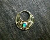 Opal Septum Brass⎜Blue & Green Fire (249nok)