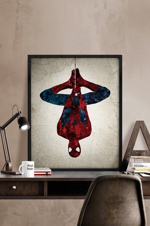 Http Www Shopyourway Com Spiderman Poster Spiderman Print Superheroes Poster Marvel Print Spiderman Abstract Wall Art Marvel 551627910