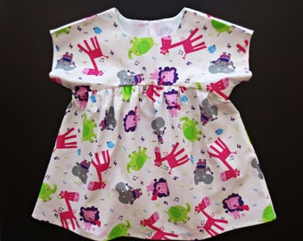 Top girl, Top Girl, Baby girl top, cotton blouse for daughter, Izzy top, Toddler top