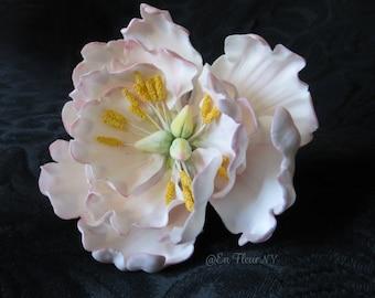 Handmade Gumpaste Flower - Open Peony