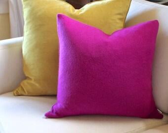 Cashmere Raspberry Pillow