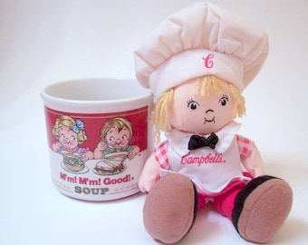 Vintage Campbells Soup Mug With Campbells Soup Doll