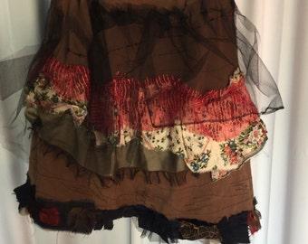 Upcycled womens skirt