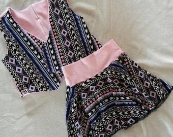 Girl's Phoebe Skirt And Vest Set (Size 8)