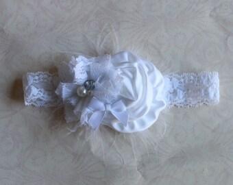 Baptism All White Headband