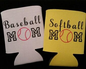 Softball can insulator, Baseball can insulator, Custom, sports can, sports can holder