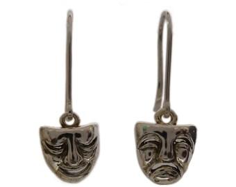 Dangle theater mask earrings