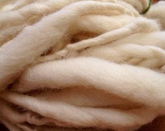 Whitefaced Woodland Jumbo Slub Handspun British Wool Yarn Hank
