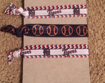 Detroit Tigers Elastic Hair Ties