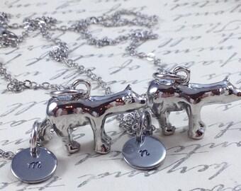 Polar bear necklace, best friend necklace, friendship necklace, personalized necklace, bff necklace, bear necklace, animal necklace