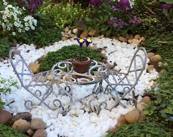 Miniature outdoor garden setting