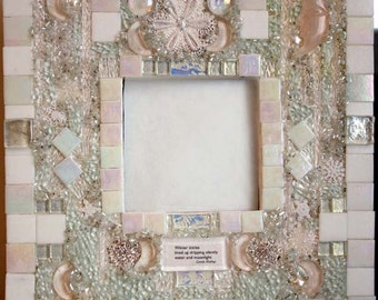Mosaic Mirror: Moonlight and Icicles