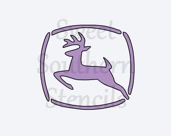 Leaping Deer Stencil