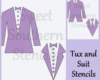 Tux and Suit Stencils  (2 separate stencils)