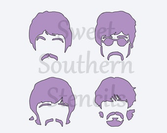 Famous Band Hair Stencil and Logo