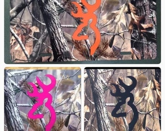 Camouflage browning buck License plate camouflage browning buck car tag new orange buck pink green blue purple red