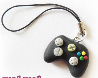 Gamer Controller Charm, Polymer Clay Charm, Gamer Gift, Geek Gift, Video Game Keychain, Zipper Pull Charm, Gamer Charm, Gamer Lanyard