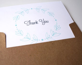 Mint Fern Thank you Card : Free Shipping