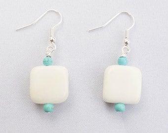 Handmade Jade & Turquoise Earrings. Xalpan Earrings