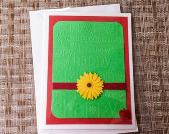 Apple Birthday Card Apple Birthday Greeting Card Blank Card