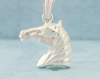 Silver Horse, Sterling Silver Horse Necklace, Horse Pendant, Horse Charm, Dije Caballo, Caballo en Plata, Animal Pendant