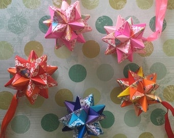 Origami hanging star