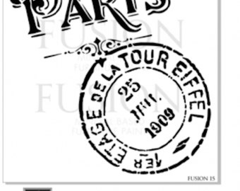 Paris Tour Eiffel Furniture or Wall Stencil - Designed and Made in Canada by Fusion