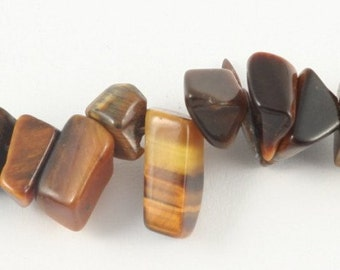 Wire Chips beads Brown Tiger eye - 90cm wire