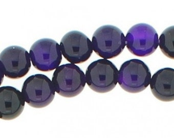 92 Pearl wire round 4mm 4 mm transparent purple agate
