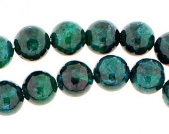 48 beads wire round 8mm 8 mm in azurite chrysocolla