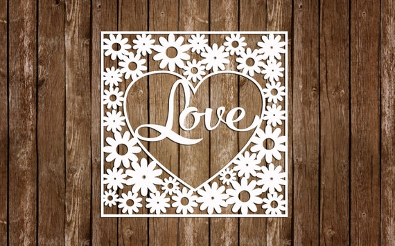 Love Paper cutting template DIY Love Card Heart by DreamyMarimmy