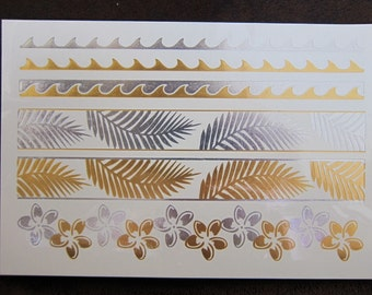 METALLIC TATTOO, Gold TEMPORARY Tattoos, Metallic Tattoos, Metallic Temporary Tattoo, Gold Temporary Tattoo, Shimmer Tattoos