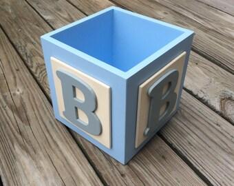 ABC Baby Block Centerpiece Block, Baby Boy Centerpieces, Baby Shower Centerpiece,Table Centerpieces, Baby Shower Decor