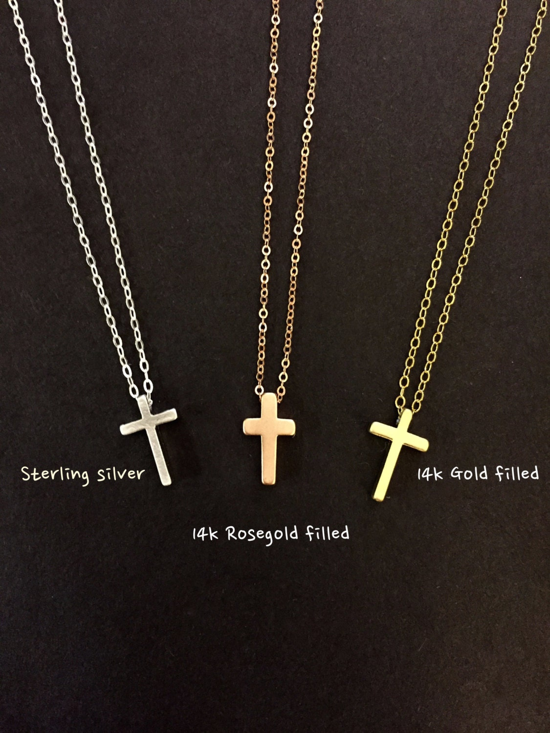 tiny cross necklace simple cross necklace cross necklace
