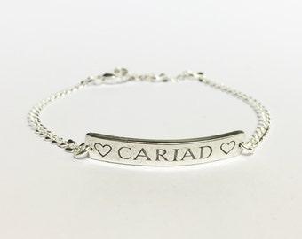 Silver Cariad Bracelet