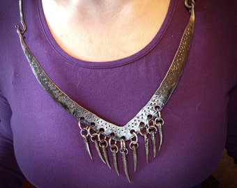 Iron tooth necklace