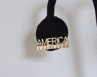 America Tie Tack or Hat Pin 10 KT Solid Gold***SALE***