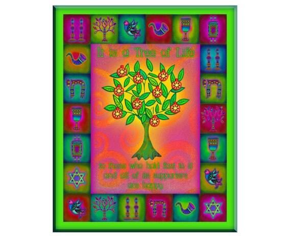 Tree Of Life Wall Art Judaica Home Decor By Judaicahomedecor