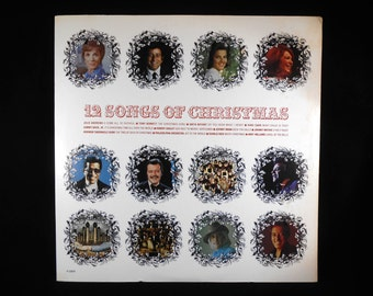12 Songs of Christmas 1975 Vintage Vinyl Popular Vocal Artists
