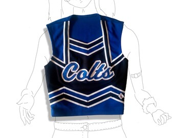 Black and blue perfect cheerleading uniform top shell!