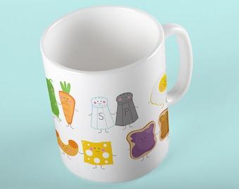 Coffee Mug Best Friends We Go Together Like Peas and Carrots, Peanut Butter and Jelly etc Mug