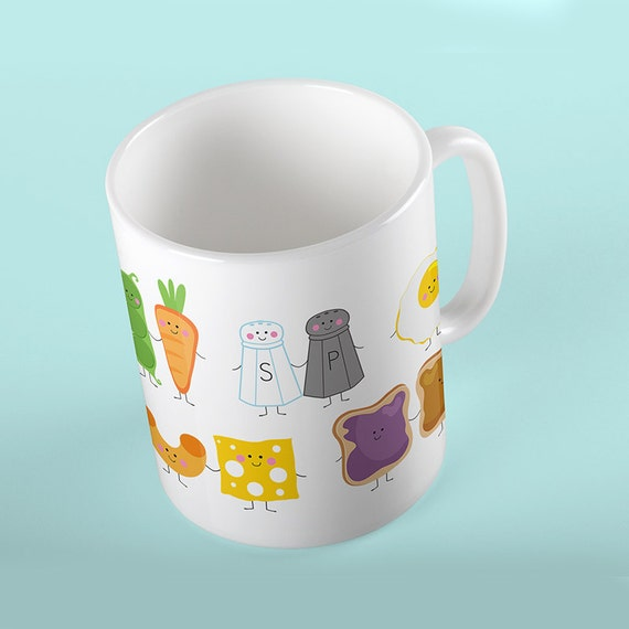 Coffee Mug Best Friends We Go Together Like Peas and Carrots, Peanut Butter and Jelly etc Mug