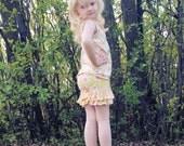 Chloe's Ruffle Leggings, Capris & Shorties. PDF sewing pattern for toddler girl sizes 2t - 12.