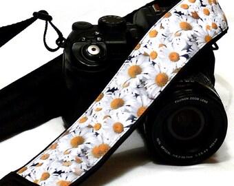 Daisies Camera Strap. Flowers Camera Strap. Nikon Canon Camera Strap. Photo Camera Accessories
