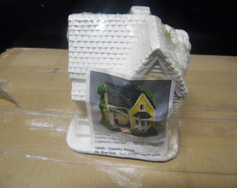 California Creations Country House #10305 Plaster Village House ready to paint