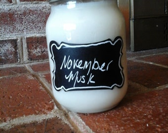 All Natural Soy 16oz November Musk Scented Candle